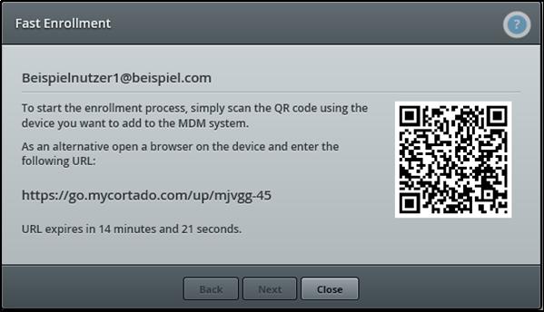 Mobile Device Management Enrollement QR-Code