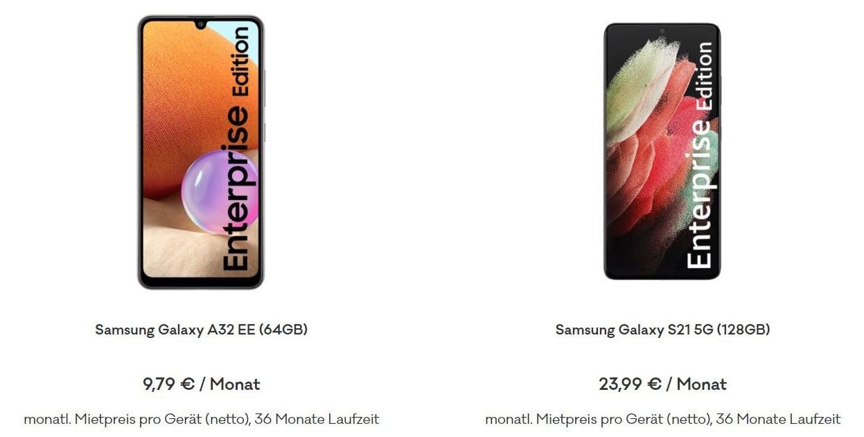 Samsung Enterprise Smartphones von everphone