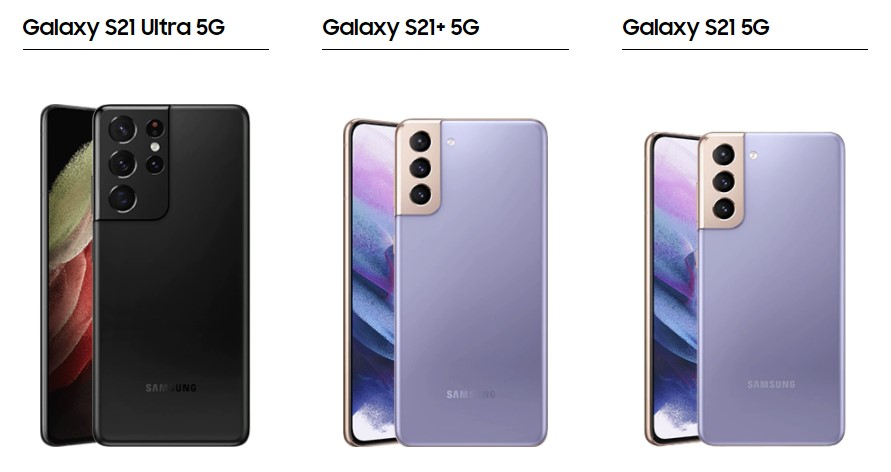 Samsung Galaxy S21 S21+ S21 Ultra 5G mieten